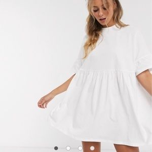 ASOS Oversized Frill Smock Dress